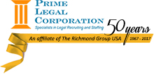 Prime Legal Staffing - An affiliate of the Richmond Group USA Celebrating 50  yeras